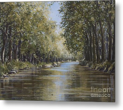 The Canal Metal Print by Margit Sampogna