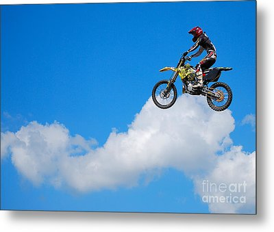 Riding The Clouds Metal Print