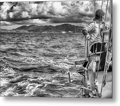 Metal Print featuring the photograph Riding The Crest Of The Wave by Howard Salmon