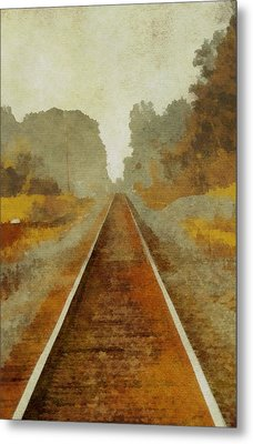 Riding The Rails Metal Print by Dan Sproul