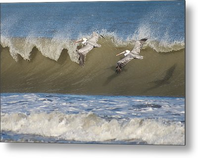 Metal Print featuring the photograph Riding The Wave by Gregg Southard