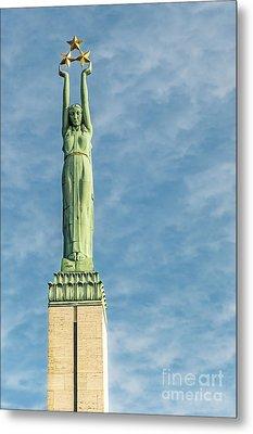Riga Freedom Monument Metal Print by Antony McAulay