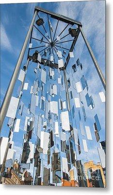 Riga Monument To Christmas Trees Metal Print by Antony McAulay