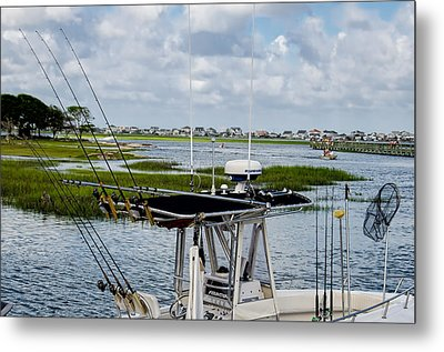 Rigged And Ready Metal Print by Ed Waldrop