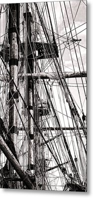 Rigging Metal Print by Olivier Le Queinec