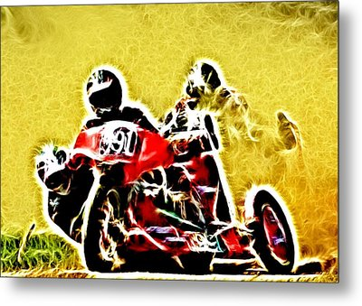 Right Hand Sidecar Outfit Metal Print by Sharon Lisa Clarke