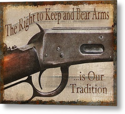 Right To Bear Arms Metal Print by JQ Licensing