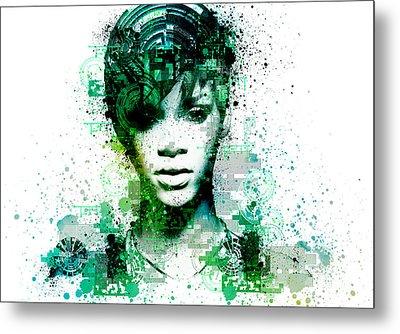 Rihanna 5 Metal Print