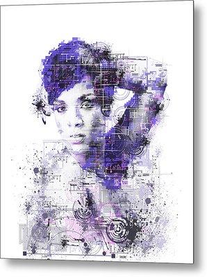 Rihanna Metal Print by Bekim Art