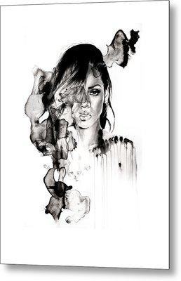 Rihanna Stay Metal Print by Molly Picklesimer