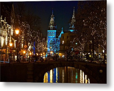 Rijksmuseum At Night Metal Print