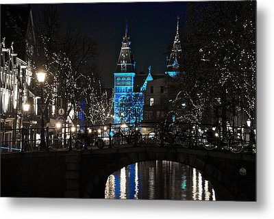 Rijksmuseum In Blue Metal Print