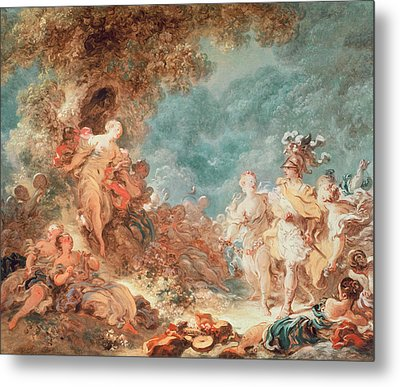 Rinaldo In The Garden Of The Palace Of Armida Metal Print by Jean-Honore Fragonard