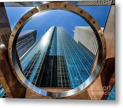 Ring Of Trust - Wells Fargo Plaza Metal Print by Dee Zunker