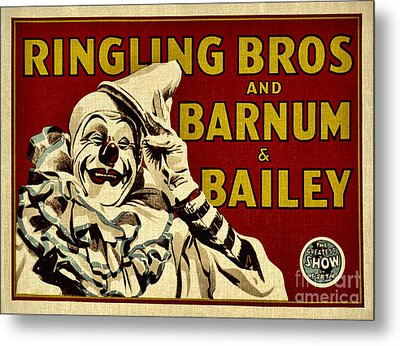 Ringling Bros   Barnum And Bailey Circus Metal Print by Elaine Manley
