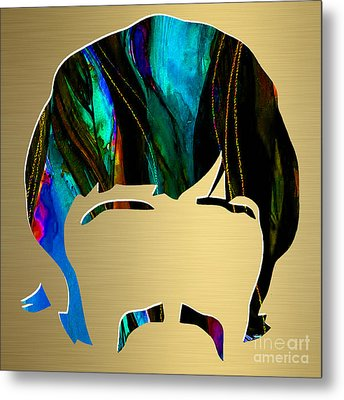 Ringo Starr Gold Series Metal Print by Marvin Blaine
