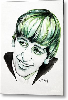 Ringo Starr Metal Print by Maria Barry