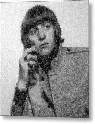 Ringo Starr Mosaic Image 1 Metal Print