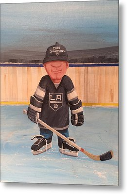 Rinkrattz - La Kings Metal Print by Ron  Genest