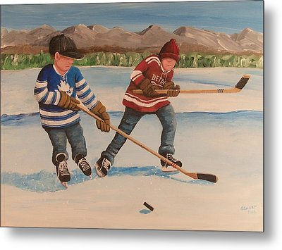 Rinkrattz - Winter Classic 2014 Metal Print by Ron  Genest