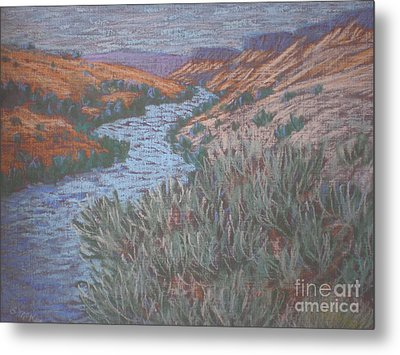 Metal Print featuring the painting Rio Azul by Suzanne McKay