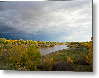 Rio Grande In New Mexico Metal Print by Mary Lee Dereske