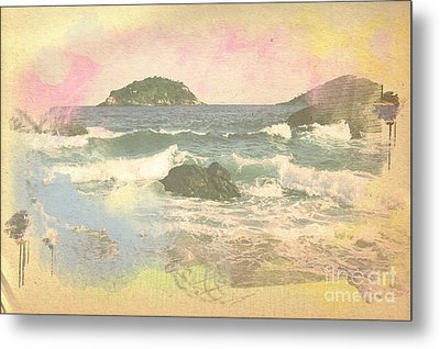 Rio In Aquarelle Metal Print by Will Cardoso