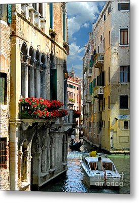 Metal Print featuring the photograph Rio Menuo O De La Verona. Venice by Jennie Breeze