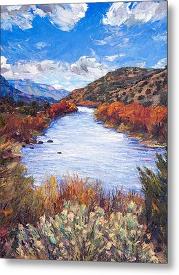 Rio River Bend Metal Print by Steven Boone