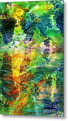 Ripened Vines Metal Print by PainterArtist FIN