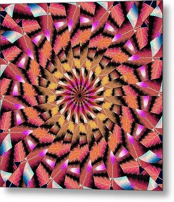Rippled Source Kaleidoscope Metal Print