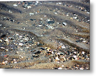 Metal Print featuring the photograph Ripples In The Sand by Judy Palkimas