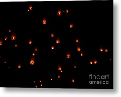 Rise Festival Lanterns 2014 Horizontal Sky Only Number One Metal Print