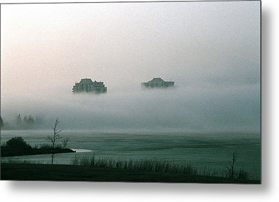Rising From The Mist Metal Print by David Porteus