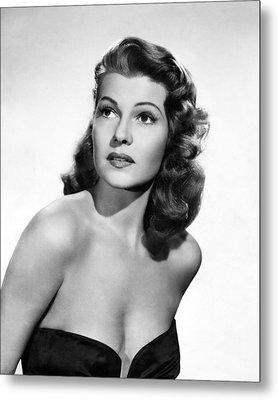 Rita Hayworth Close Up Metal Print by Retro Images Archive