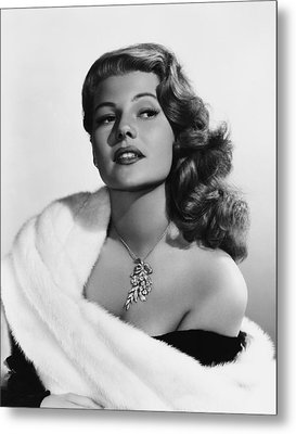 Rita Hayworth, Mid-1950s Metal Print