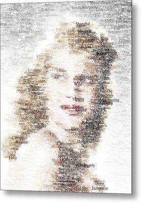 Rita Hayworth Typo Metal Print