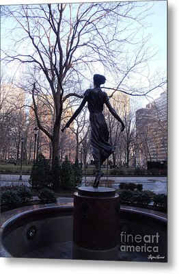 Rittenhouse Square At Dusk Metal Print by Lyric Lucas