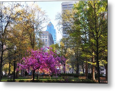 Rittenhouse Square In Springtime Metal Print by Bill Cannon