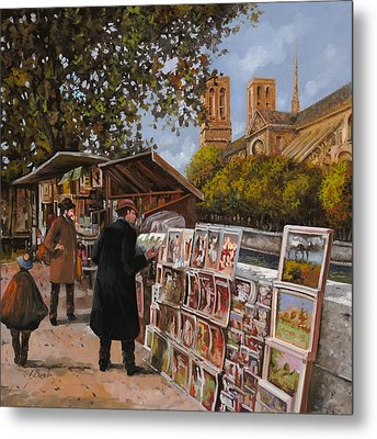 Rive Gouche Metal Print by Guido Borelli