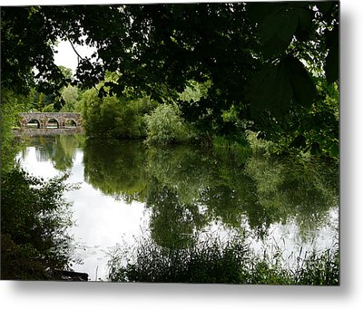 Metal Print featuring the photograph River And Bridge by Winifred Butler