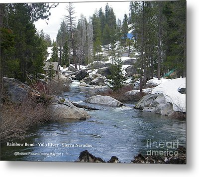Metal Print featuring the photograph River Bend  by Bobbee Rickard