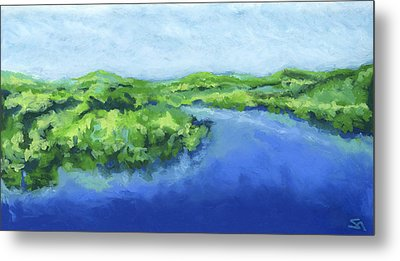 Metal Print featuring the painting River Bend by Stephen Anderson