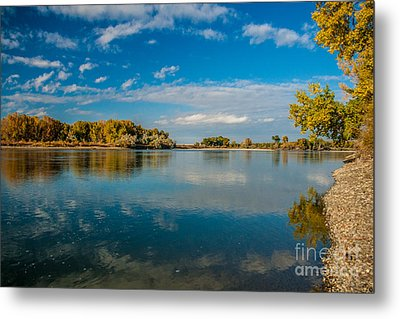 River Blue Metal Print by Stefano Carini