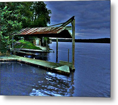 Metal Print featuring the photograph River Blues by Lin Haring