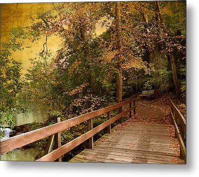 River Crossing Metal Print by Jessica Jenney