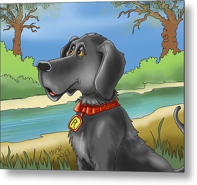 River Dog Metal Print