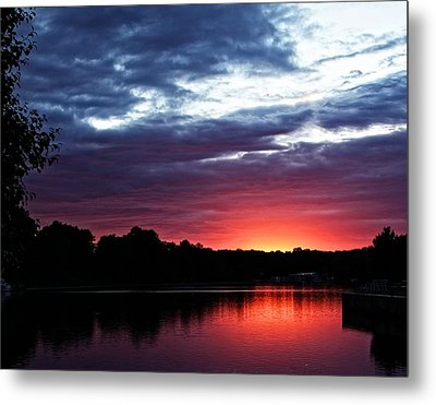 Metal Print featuring the photograph River Glow by Dave Files