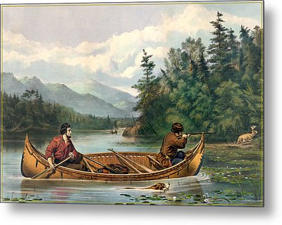 River Hunting Metal Print by Gary Grayson