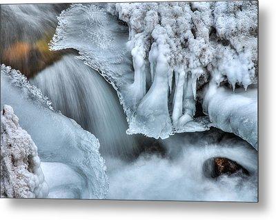 River Ice Metal Print by Chad Dutson